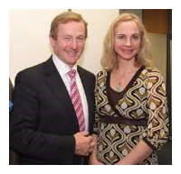 Maev with the Taoiseach / Irish Prime Minister at a CPL event.
